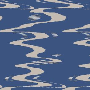 Indigo Ikat Waves