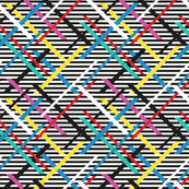 Colorful Zig Zag Black & White Rainbow Stripes Small