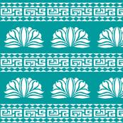 Chrysanthemum Stripe Turquoise