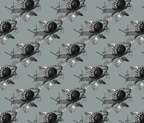 Slow and Steady in Olive fabric by oinkoinkorchid on Spoonflower - custom fabric