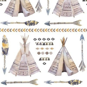 Watercolor_Teepee_and_Arrows