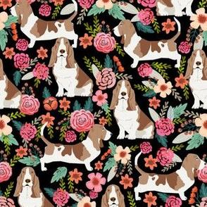 basset hound floral dog fabric basset hound fabrics