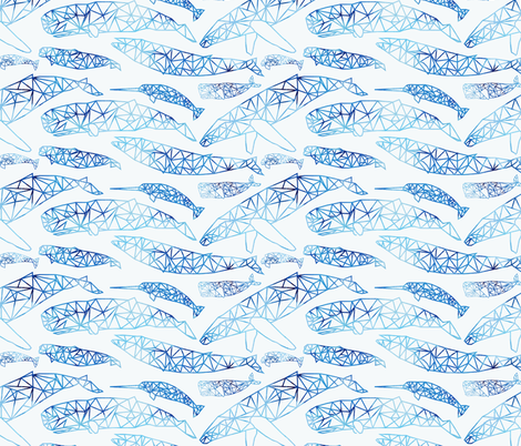 spirits of the deep fabric by booboo_collective on Spoonflower - custom fabric