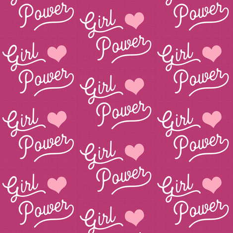 Girl Power is Pink and Women are Nasty fabric by brainsarepretty on Spoonflower - custom fabric