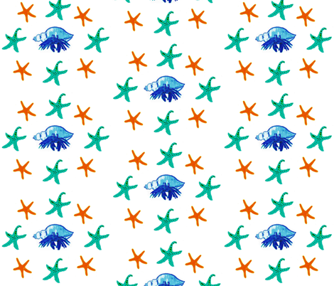 Beneath the Surface fabric by the_latest_whimsy on Spoonflower - custom fabric