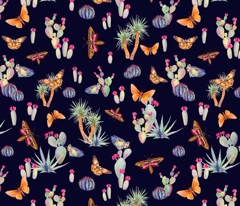 Desert Spirit Navy fabric by katebillingsley on Spoonflower - custom fabric
