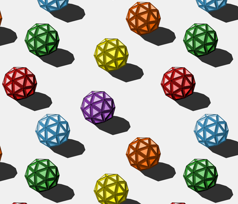 geodesic_rainbow_balls fabric by modernfox on Spoonflower - custom fabric