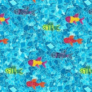 Fish Mosaic Design