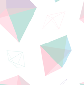 Pastel Geometric Gem Shapes