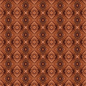 Warm Brown Diamond Brocade