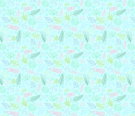 Aquatic_Reef fabric by fabricandfundesigns on Spoonflower - custom fabric