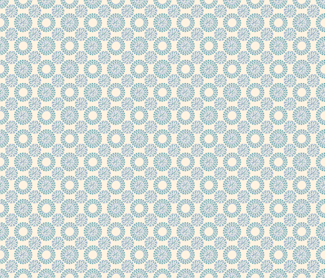 Dotty Mosaic (on sand, blue variation) fabric by seesawboomerang on Spoonflower - custom fabric