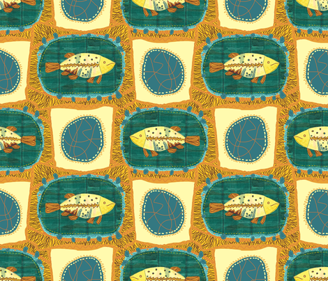 fishy business fabric by anchoa on Spoonflower - custom fabric