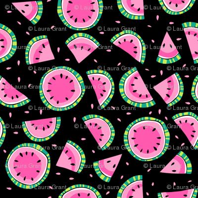 watermelons black