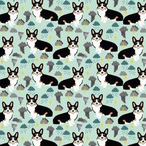 corgi weather storm fabric tricolored corgi design