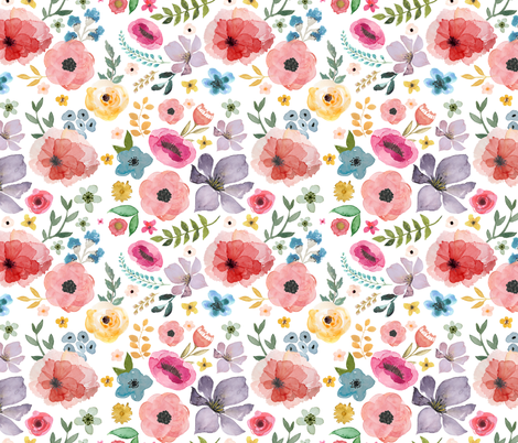 "18"" Floral Fiesta  fabric by shopcabin on Spoonflower - custom fabric"