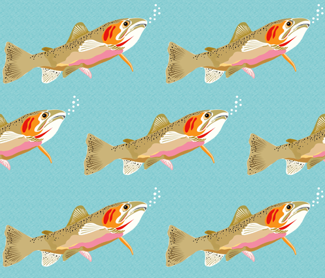 Cutthroat Trout fabric by vanillabeandesigns on Spoonflower - custom fabric