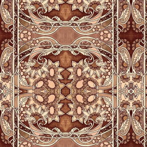 Chocolate Paisley Autumn