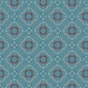 Mid century blue