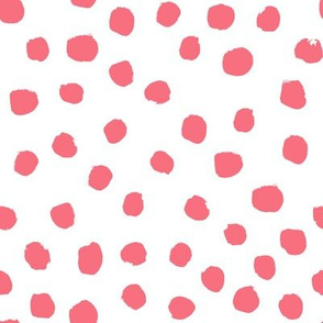 coral dots fabric nursery coral painted design