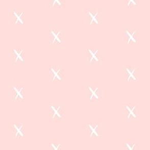 x pink fabric swiss cross fabric nursery baby fabric