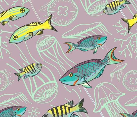 Under The Sea  fabric by ceciliasolari on Spoonflower - custom fabric