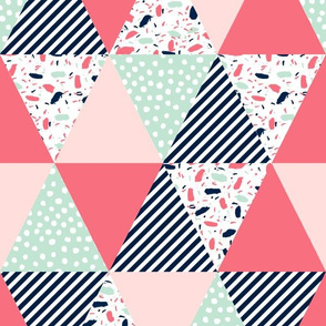 triangle cheater quilt nursery baby fabric