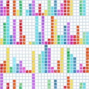 Rainbow Pi Mosaic Watercolour