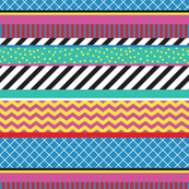 Colorful Washi Tape Stripes Zigzag Large