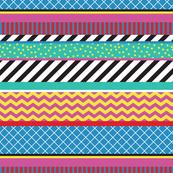 Colorful Washi Tape Stripes Zigzag Large