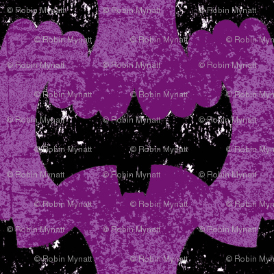 Bat Girl Grunge purple