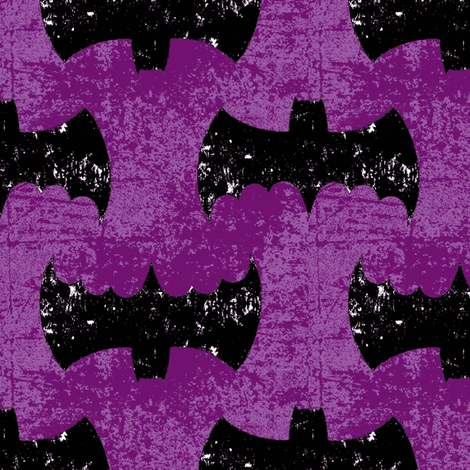 Bat Girl Grunge purple fabric by parisbebe on Spoonflower - custom fabric