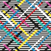 Colorful Zig Zag Black & White Rainbow large