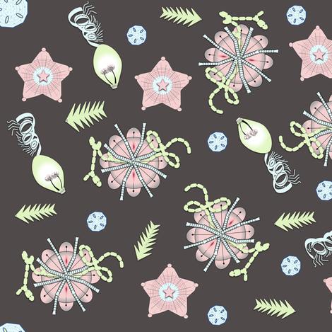 Silent Deep Sea  Creatures fabric by gargoylesentry on Spoonflower - custom fabric