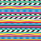 Colorful Washi Tape Stripes Zigzag Mini