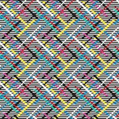Colorful Zig Zag Black & White Rainbow Mini