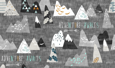 Adventure Awaits (charcoal) MICRO