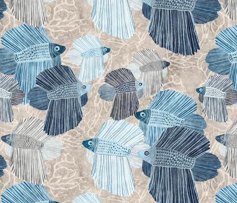 tropical Betta fish fabric by kociara on Spoonflower - custom fabric
