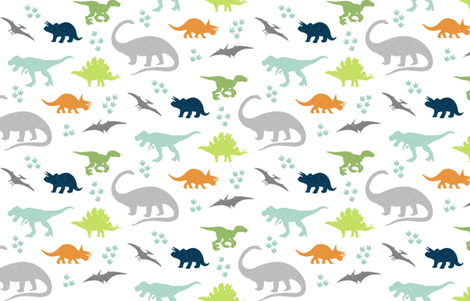 Linen Dinosaurs fabric by westandarrow on Spoonflower - custom fabric