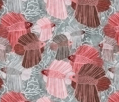 red fabric by kociara on Spoonflower - custom fabric
