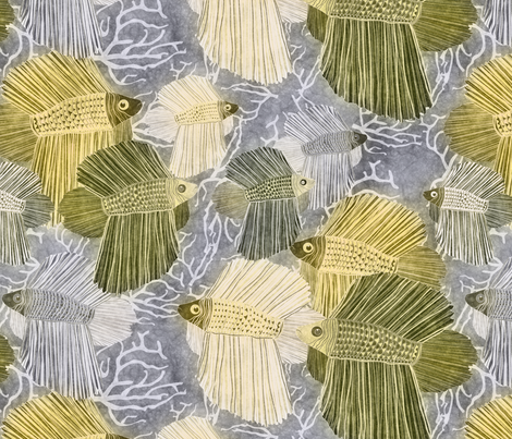 yellow fabric by kociara on Spoonflower - custom fabric