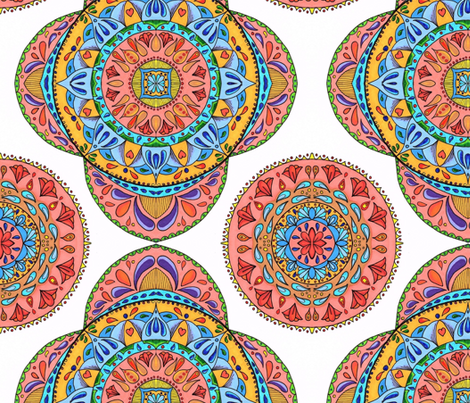 Multi color Mandalas fabric by wild_bumblebee_designs on Spoonflower - custom fabric