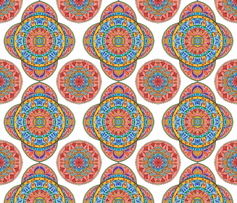 Multi color Mandalas fabric by bohojouel on Spoonflower - custom fabric