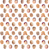 Decapitated Doll Heads - mini white