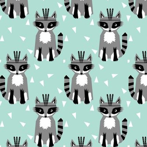 southwest baby design teepee fox raccoon arrows cactus trendy raccoon mint