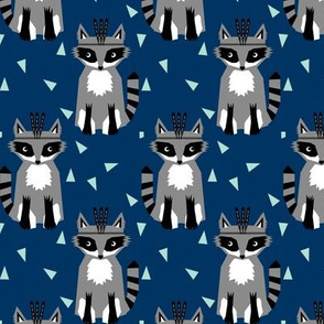 raccoon navy fabric navy blue nursery fabric