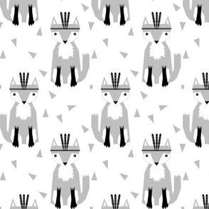 fox fabric nursery baby fabric grey southwest baby fabric