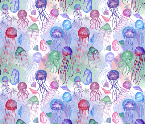 medusas fabric by marielatresoldi on Spoonflower - custom fabric