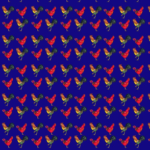 Rooster and Hen in Navy