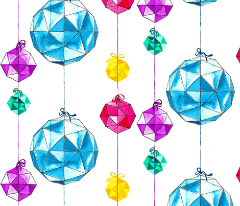 Geodesic Baubles fabric by mandy_b on Spoonflower - custom fabric